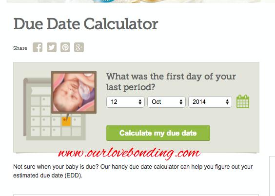 Laman web mengira tarikh due