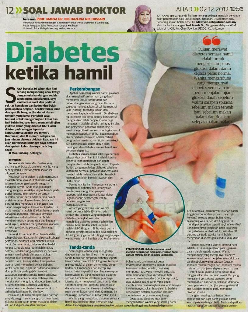 diabetes ketika hamil