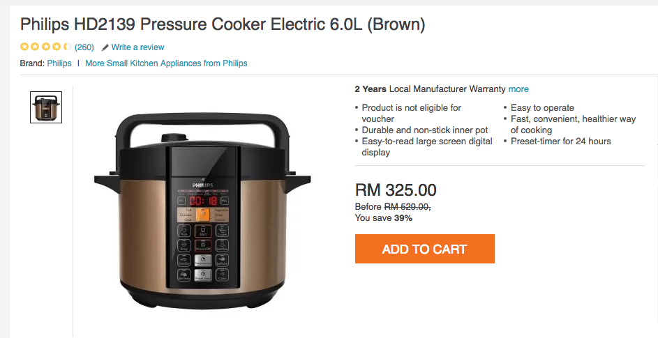 Review Philips Pressure Cooker