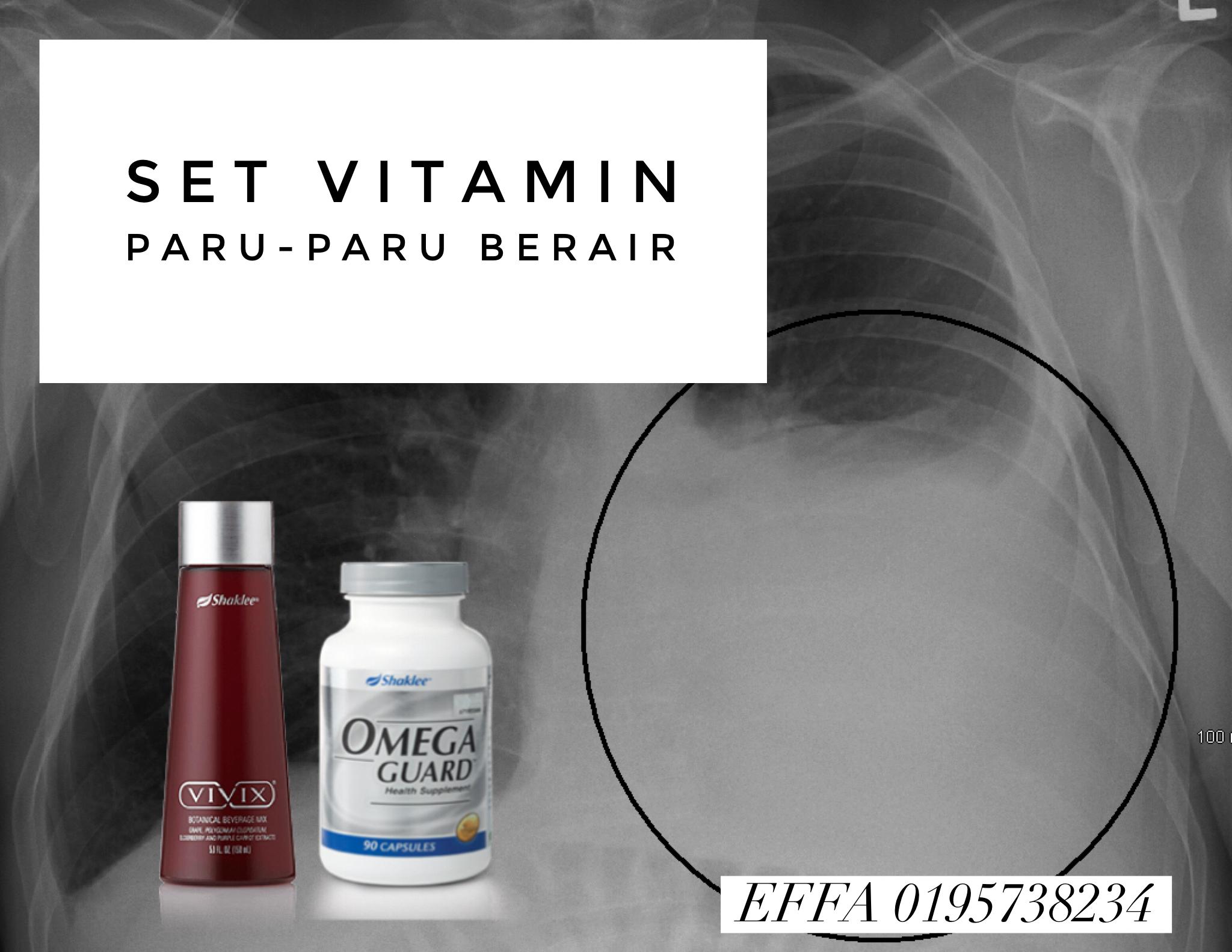 set vitamin paru paru berair